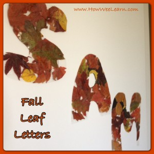 Fall Crafts for two year olds
