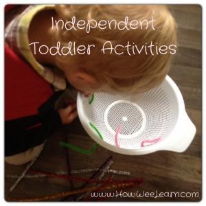 Independent Toddler Activities