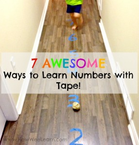 7 AWESOME Ways to Learn Numbers with Tape!