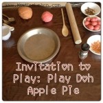 Fall Play Doh Apple Pie – Invitation to Play