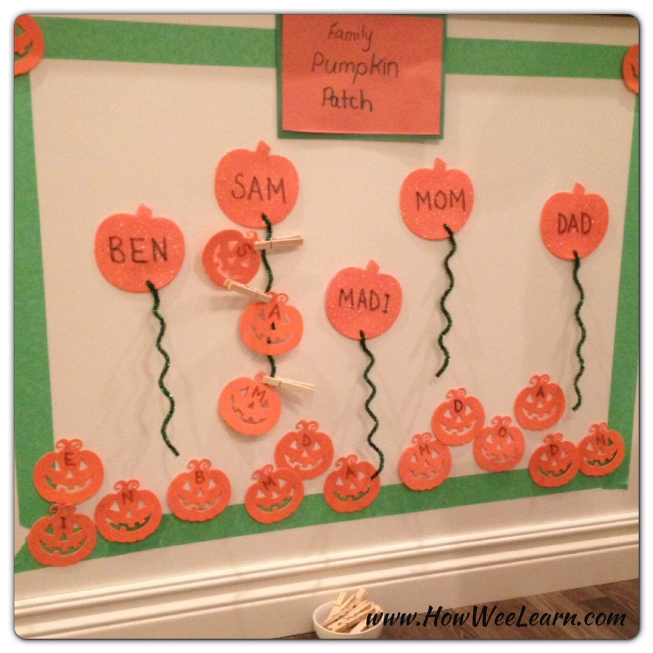 Halloween Pumpkin Crafts For Preschoolers