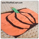Halloween Preschool Crafts: Pumpkin Name Puzzles!
