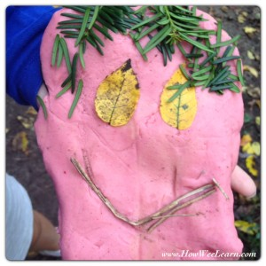 how we learn with a Playdough Nature Walk 4