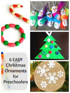 Easy homemade Christmas Ornaments for Preschoolers