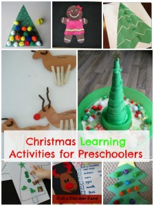 Christmas activities for preschoolers that focus on learning games