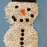 Paper plate Christmas crafts snowman