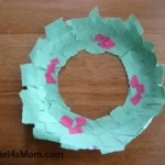 Paper plate Christmas crafts ripped art