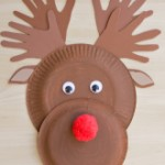 Paper plate Christmas crafts reindeer