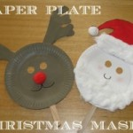 Paper plate Christmas crafts masks