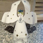Paper plate Christmas crafts angel
