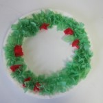 Paper plate Christmas crafts wreath
