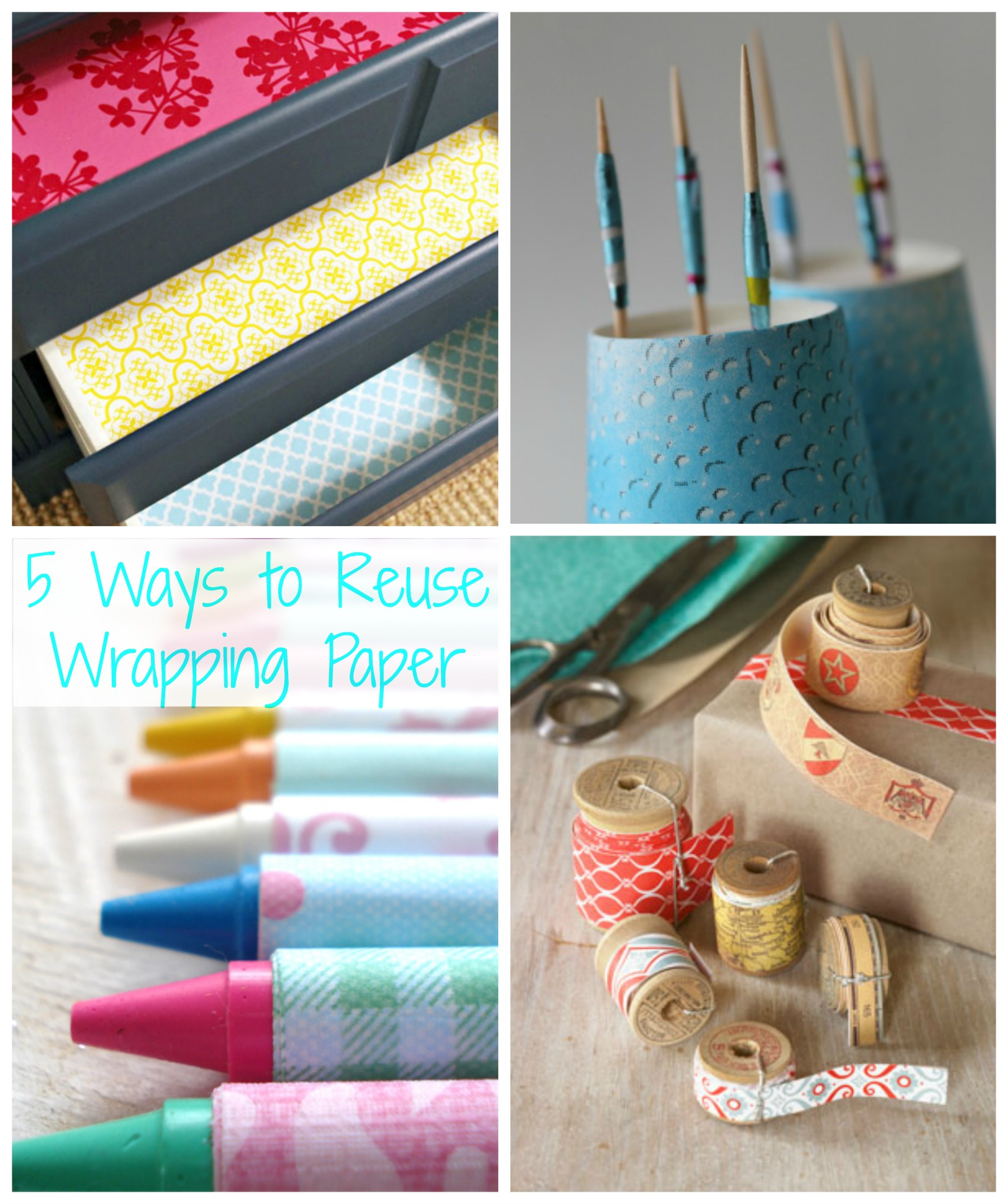 5 ways to reuse wrapping paper how wee learn for Creative use of waste newspaper
