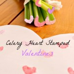 Celery Heart Stamped Valentines