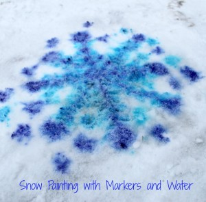 Snow Painting with Markers and Water