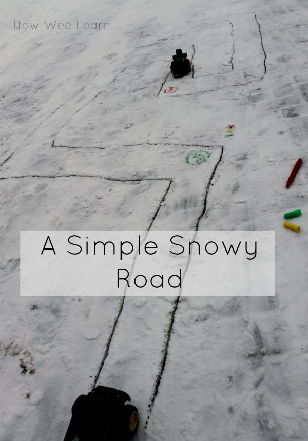 outdoor snow activity for preschoolers