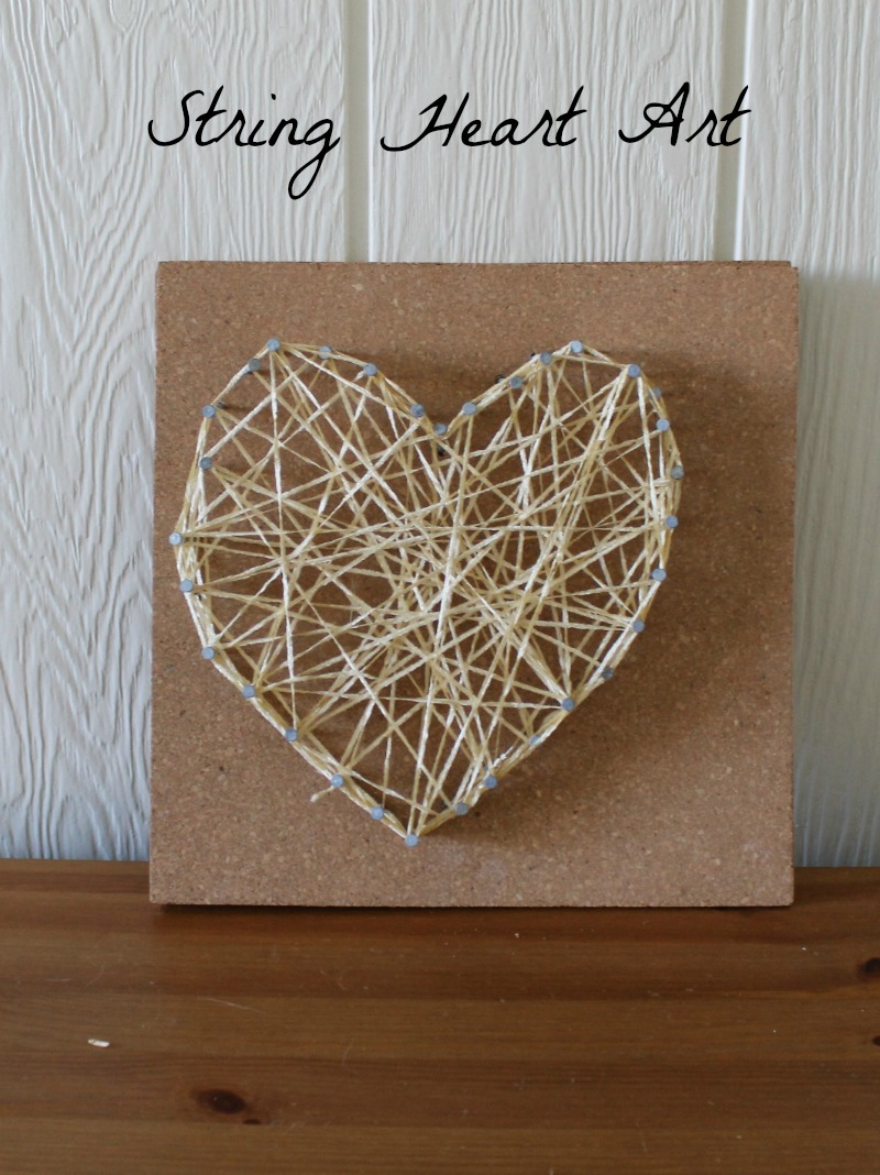 string heart art