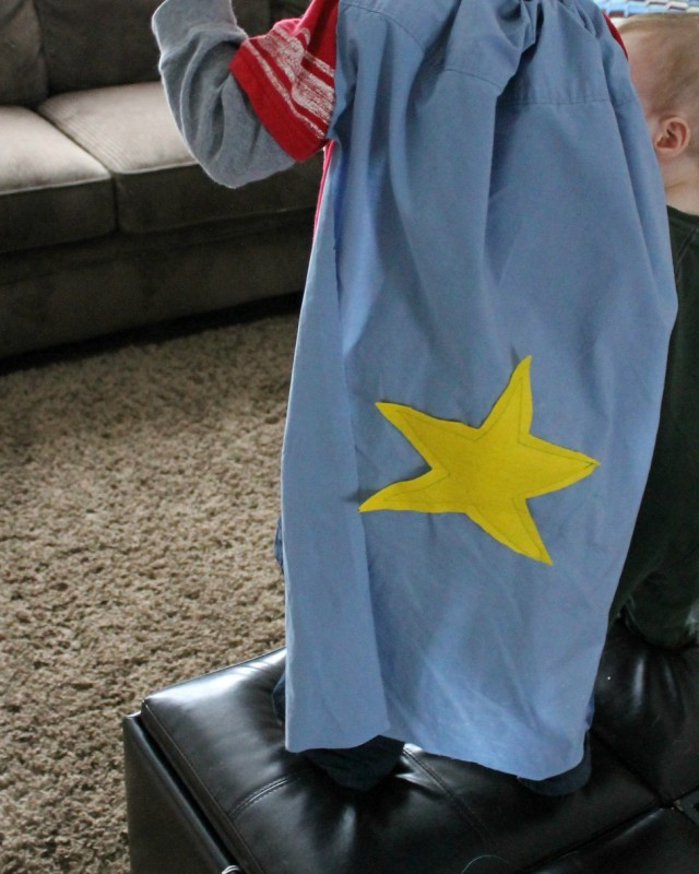 pillowcase for a DIY Superhero cape