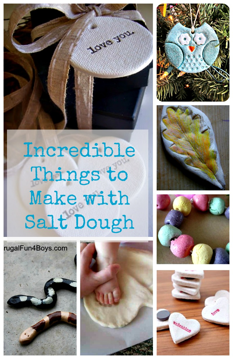 so many great crafts using salt dough