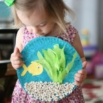 aquarium craft with pebbles