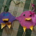 birds made from shapes and paper plates