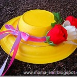 an easter hat made from paper plates
