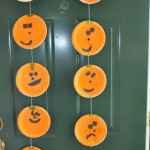 pumpkin garland from plates