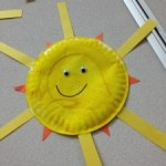 a sunshine made from plates