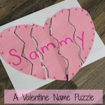 A Valentine Name Puzzle – Preschool Valentines Day Craft