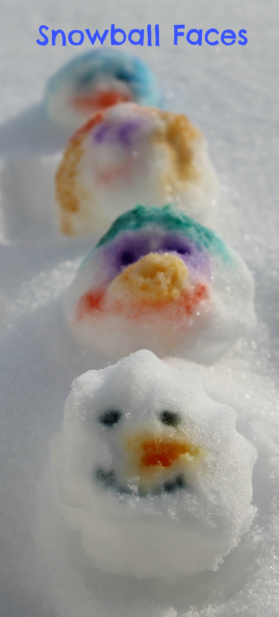 srawinf faces on snowballs