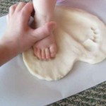 foot prints in salt dough