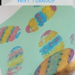 Easter Egg Potato Stamping: Easter Craft for Preschoolers