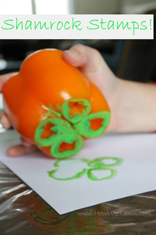 pepper stamping st patricks day craft how we learn