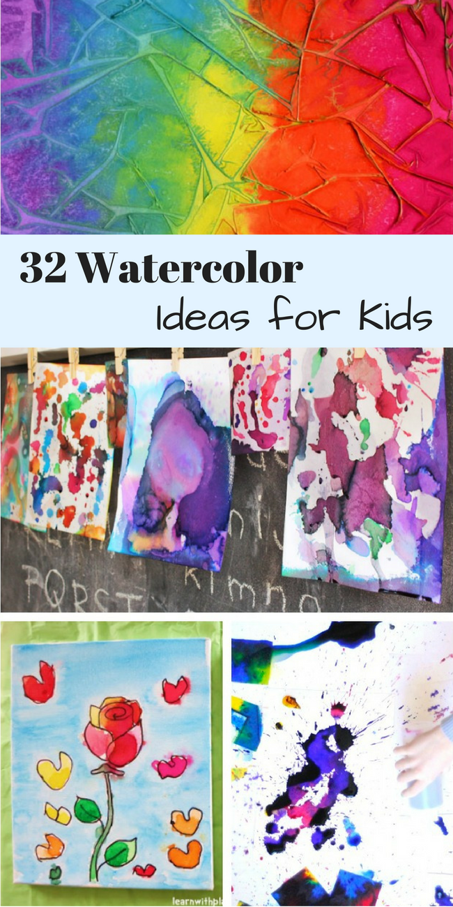 These watercolor painting ideas for kids are so creative and fun. Can't wait to try them all!