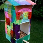 homemade bird feeders by kids
