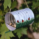 homemade birdfeeders from tin cans