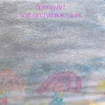 Salt and Watercolor Spring Art