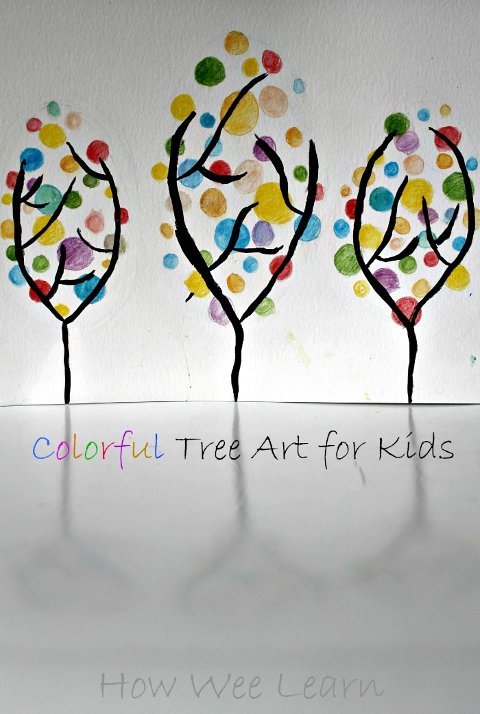 colorful spring art project for kids how we learn