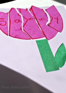 Spring Tulip Name Puzzle