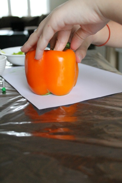 how we learn peppers and paint for a st patricks day craft
