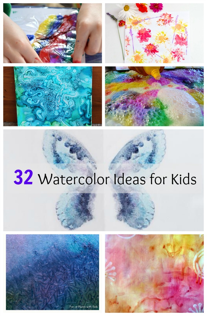 32 easy watercolor painting ideas how wee learn Fun painting ideas for toddlers