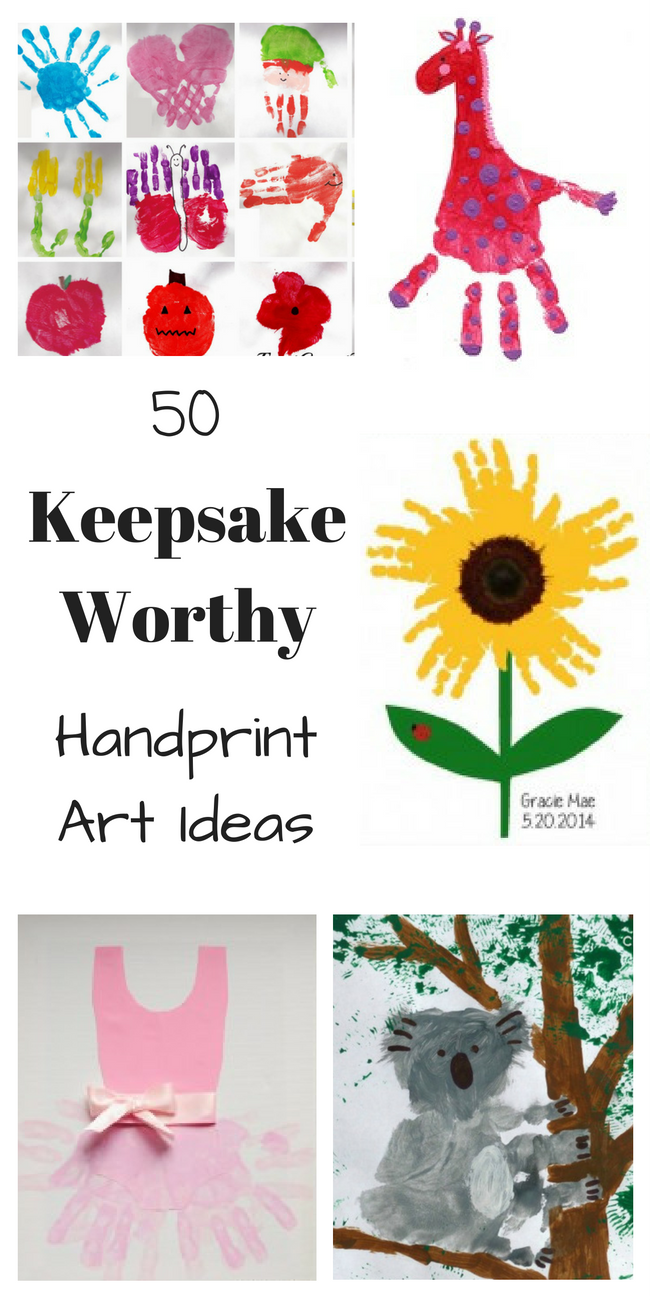 I love all these fun ideas for handprint art for kids. These would make great gifts too!