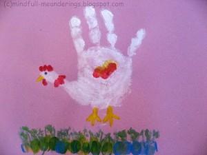 handprint art artsy craftsy