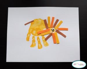 kids handprint art Meet the Dubiens