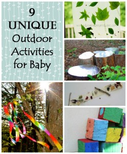 9 UNIQUE Outdoor Activities for Babies
