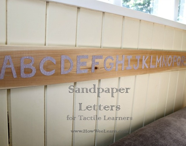 sandpaper letters how wee learn
