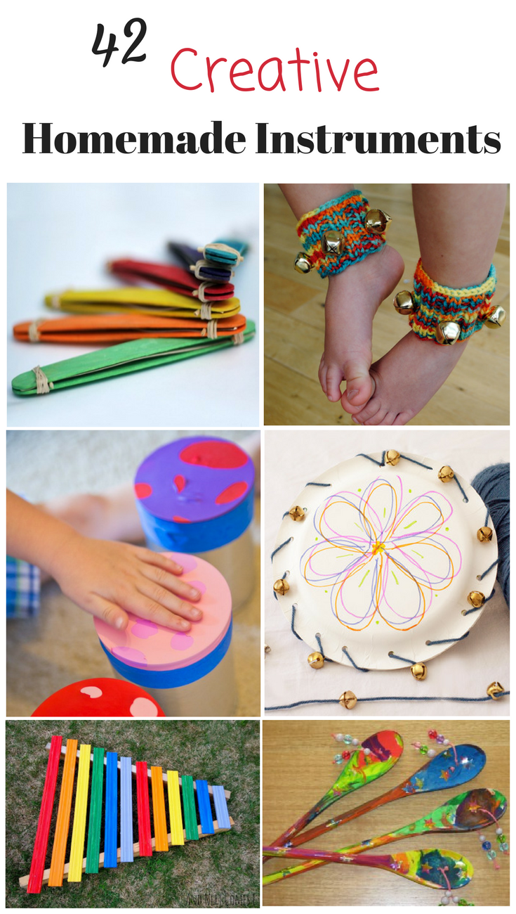 42 splendidly creative homemade musical instruments how for Arts and crafts toys for 4 year olds