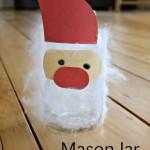 Fuzzy Santa!  Christmas Mason Jar Crafts