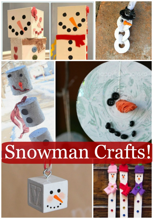 snowman crafts for kdis