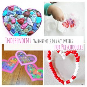 Independent Valentine Preschool Activities