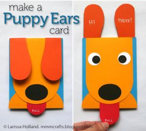 homemade birthday cards puppy ears
